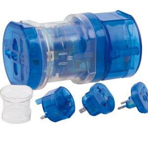 Adaptador Enchufes Universal Azul Decotamp
