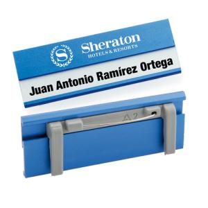 Identificador Aluminio Bindel Azul Decotamp