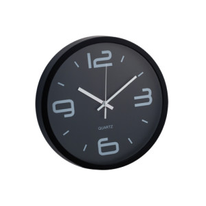 Reloj Pared Cronos Negro Decotamp